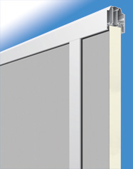 Füllung glatt/stucco 40 mm für Baureihe
