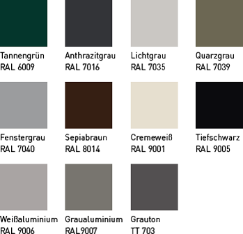 Farbvielfalt für Kipptore