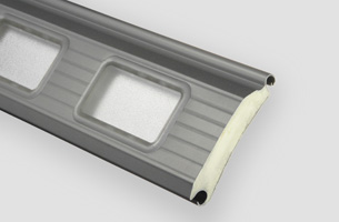 Industrierolltor-Profil 95R mit Fenster opal