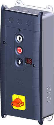TS 971 Torsteuerung Bestückung Variante F mit Hauptschalter (beispielhaft)